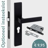 Eliot deurklink - profielcilinder - mat zwart - complete set - insteekslot