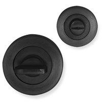 Novara rozet set - WC - rond - mat zwart