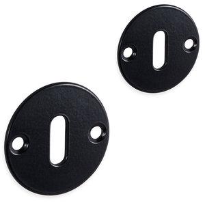 Mazovia rozet set - baardsleutel - rond- mat zwart