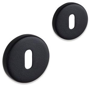Fira rozet set - baardsleutel - rond - mat zwart