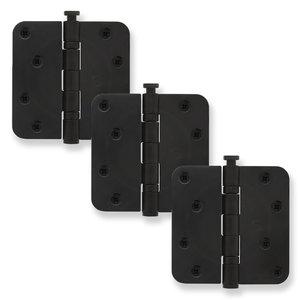 Kogellagerscharnier mat zwart - set á 3 stuks