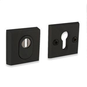 Veiligheid-rozet vierkant - mat zwart