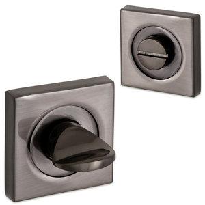 Victoria rozet set - WC - antraciet mat glans - vierkant