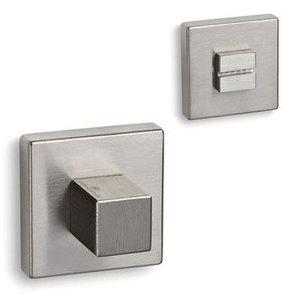 Eliot rozet set - WC - vierkant - nikkel