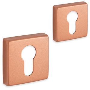 Eliot rozet set - cilinder - vierkant - rosé goud 01