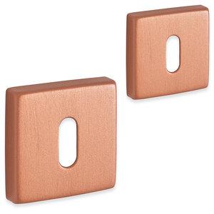 Eliot rozet set - baardsleutel - vierkant - rosé goud 01