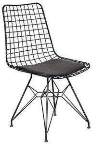 Draadstoel zwart - gepoedercoat - 1
