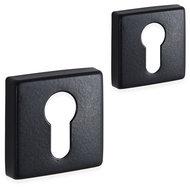 Eliot rozet set - cilinder - vierkant - mat zwart - 01