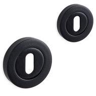 Novara rozet set - baardsleutel - rond- mat zwart - 01