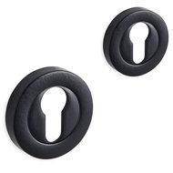 Novara rozet set - cilinder - rond - mat zwart - 01