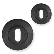 Baardsleutelrozet-mat zwart-rond